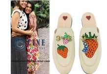 Chiranjeevi 's daughter Sreeja Kalyan Gucci sandals cost