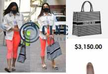 Kiara Advani trendy look Christian Dior Tote bag