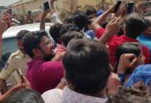 Huge crowd gathered at Sai Dharam Tej Republic film shoot