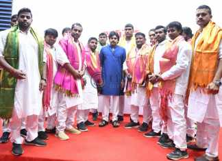 Pawan Kalyan at the Wrestlers Honors Conference