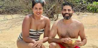 Sameera Reddy enjoy her weekend in Goa donning a one-piece swimsuit